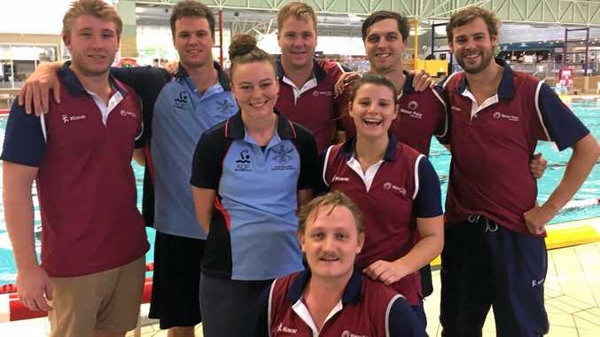 Mackay's Queensland Country players (back from left)Jared Patterson, Matt Brady, John Campbell, Callum Dreghorn,Will Hillhouse, (middle) Danielle Garner, Maxine Ottawa and (front) Matthew Wilson.