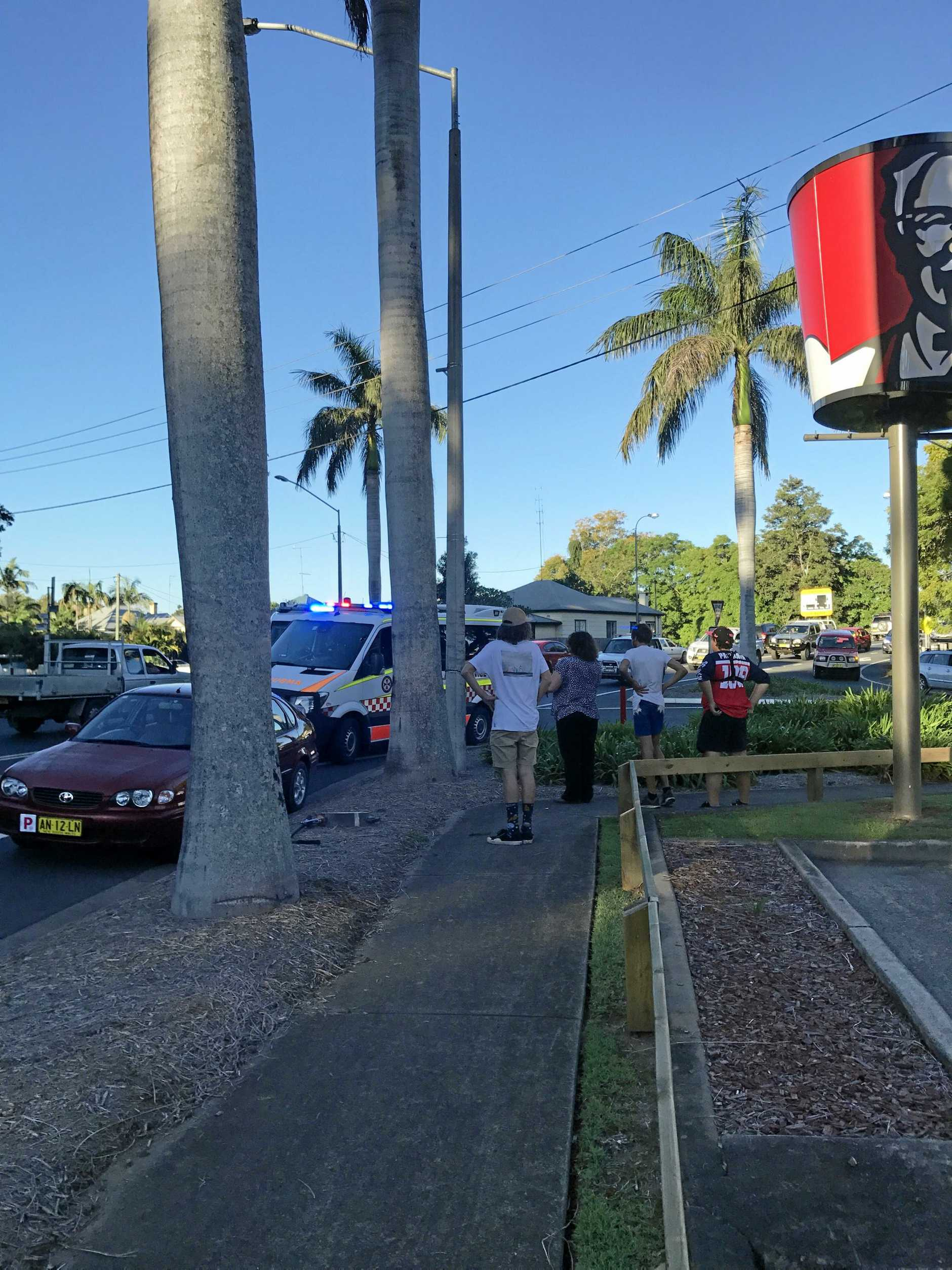 An individual was struck by a vehicle on Fitzroy St this afternoon.