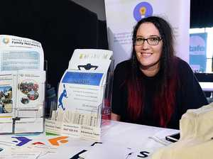 SHARING EXPERIENCE: Tammy Watton at the Fraser Coast Jobs and Careers Expo, held yesterday.