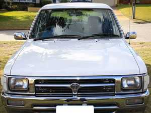 The vehicle involved could be a 1988-1997 model Toyota Hilux.