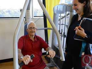 WWII veteran visits gym