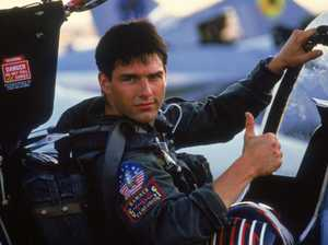 Tom Cruise in a scene from the movie Top Gun.