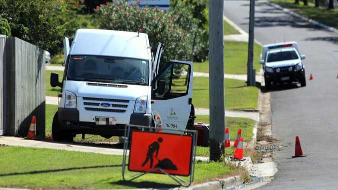 Gladstone police have established a crime scene after a body was found in a stormwater drain on Gladstone Benaraby Rd.