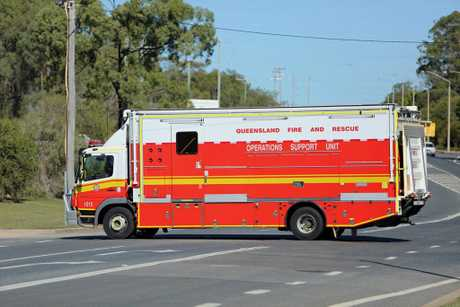 Queensland Fire and Rescue Operations Support Unit have arrived on scene where a body has been discovered.