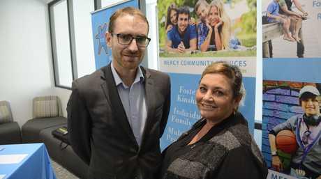 Regional Australia Institute CEO Jack Archer, Cultural Diversity Hub team leader David Barton and senior operations manager at Mercy Community Services Frances Klaassen.