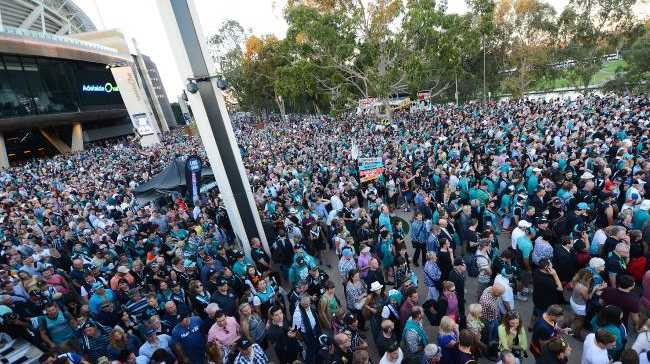 Fans leave Adelaide Oval after an event. Picture: Tom Huntley Source: News Corp Australia