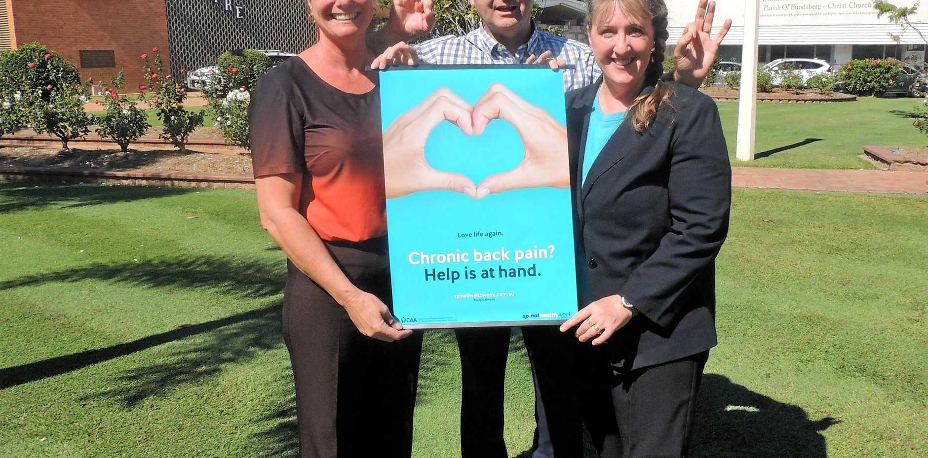 DON'T STAY SILENT: Local chiropractors are raising awareness of chronic back pain and encouraging Australians to seek help