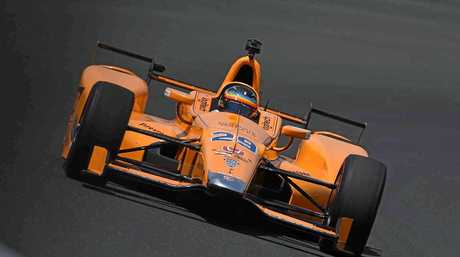 Fernando Alonso practising for the 2017 Indianapolis 500.