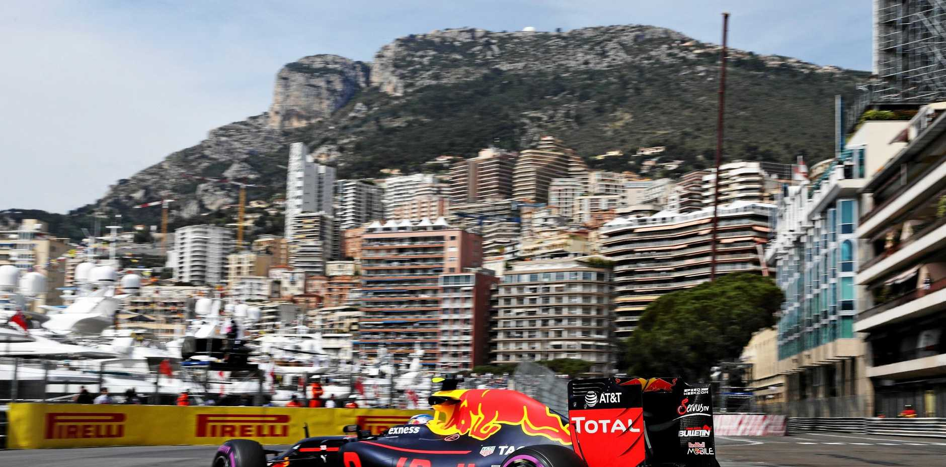 Max Verstappen at the Monaco Formula One Grand Prix at Circuit de Monaco, 2016.