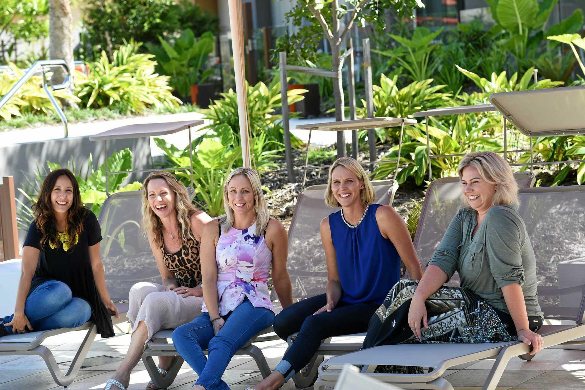 Hey Mumma crew Gisela, Deanne, Katie, Susie O'Neill and Meltopia. Hey Mumma starts June 6. Photo Marc Stapelberg / The Northern Star