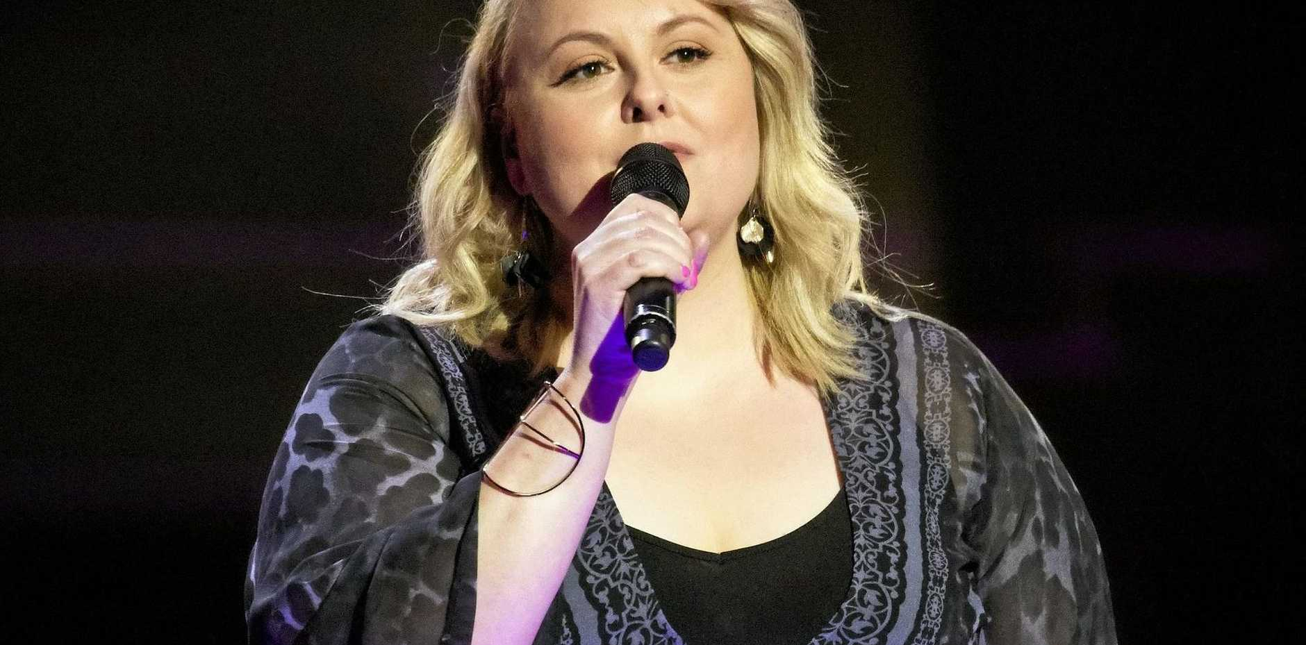 ONWARDS AND UPWARDS: Lyn Bowtell is through to the battle rounds on The Voice.