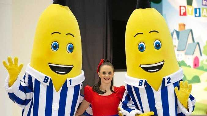 Banana in Pajamas will be special guests at tomorrow's Run, Ride, Race charity event at Wellcamp Airport.