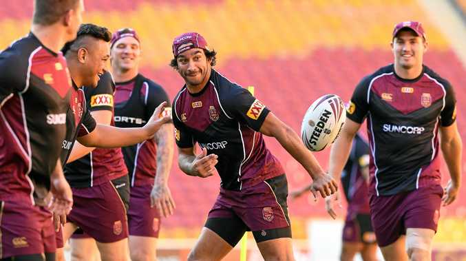 Johnathan Thurston during a Queensland State of Origin training session in Brisbane.