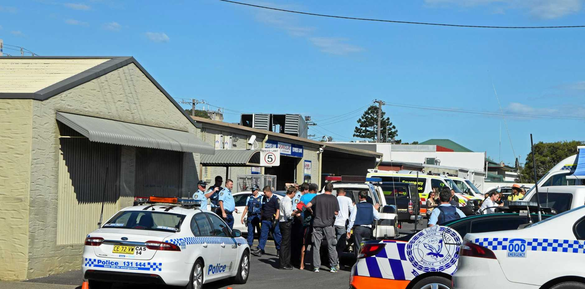Hostage situation at Hotel Cecil in Casino, Barker St  where a man held a female bar staff at knifepoint. Resolved safely by police at 12.53pm Wednesday, May 24.