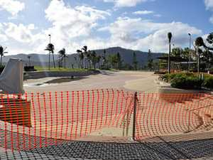 The Airlie Beach Lagoon was closed due to damage from Tropical Cyclone Debbie in March.