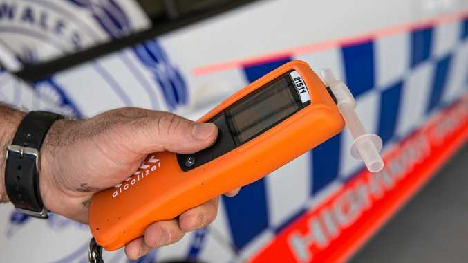 NSW police breath testing drink driver.