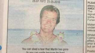 Tribute to Martin Cunningham.