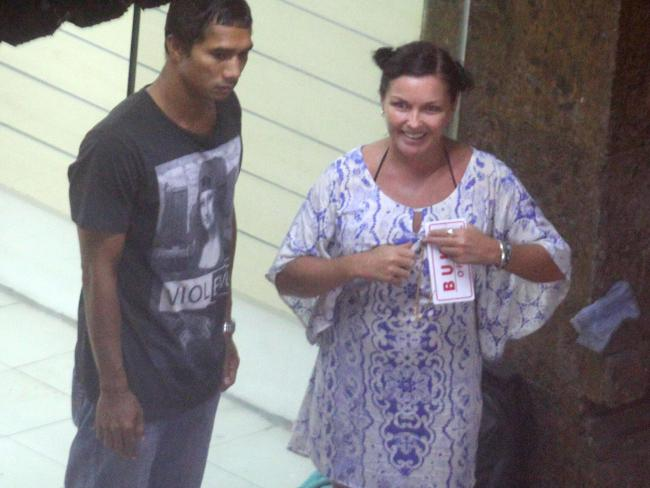 Schapelle Corby with her boyfriend Ben Panangian. Picture: News Corp