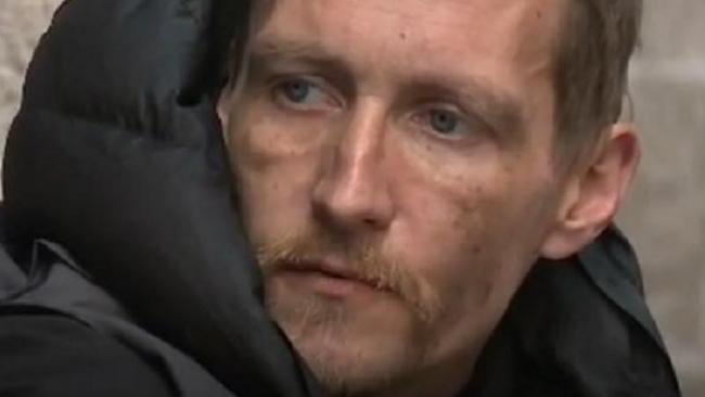 Homeless man Stephen Jones offered new start by billionaire. Picture: ITV News