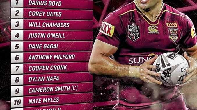 Queensland Maroons State of Origin line up for 2017.