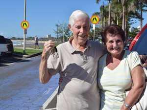 Brisbane couple Brian and Anne Colman visit