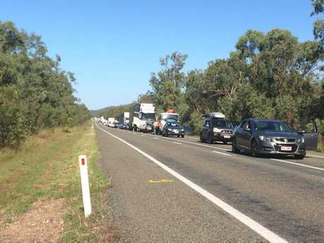 Traffic was at a standstill for about two hours on the Bruce Highway.