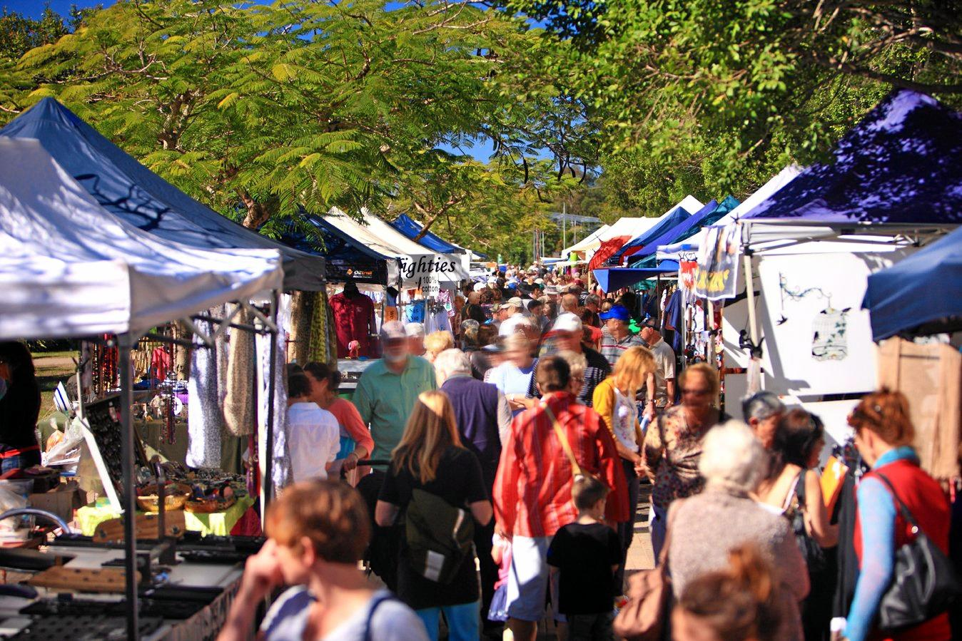 The Eumundi Market is on every Wednesday and Saturday.