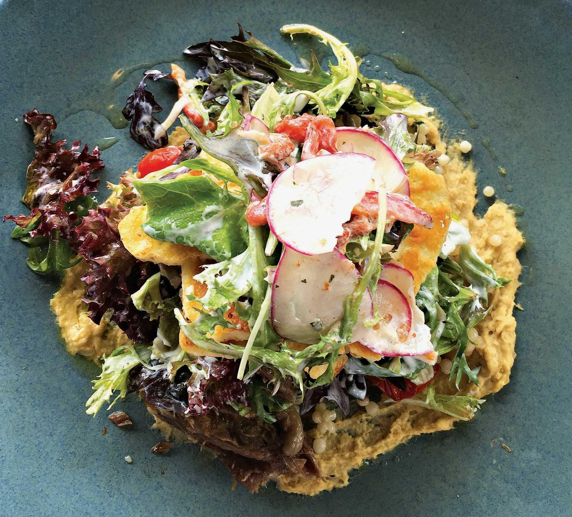 The Israeli cous cous salad at Bohemian Bungalow in Eumundi.