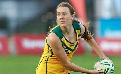 Tamika Upton in action for the Australian open women's team.