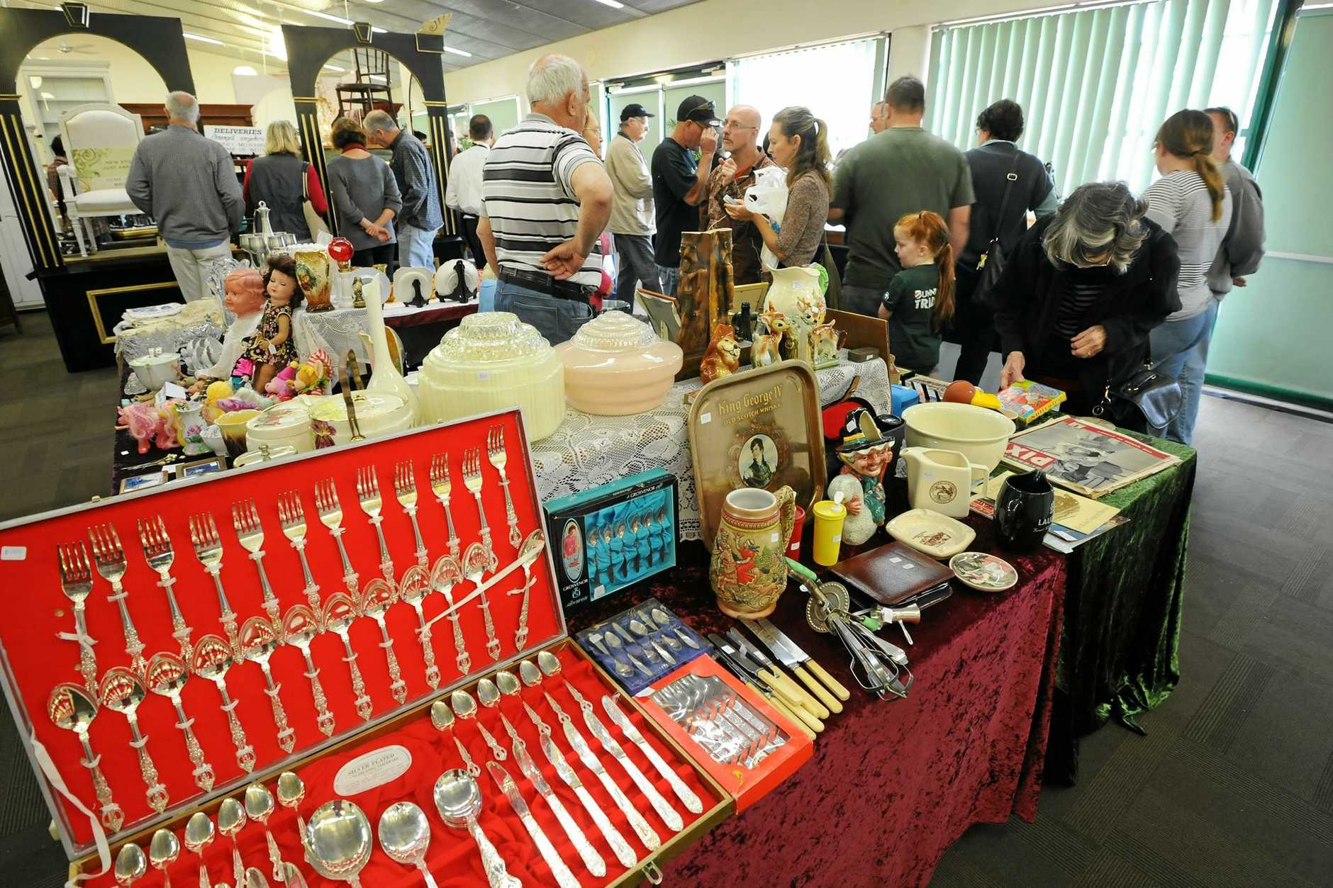 At the annual Collectors Fair 2013 held at the Coffs Harbour Showgrounds.  Photo: Leigh Jensen / Coffs Coast Advocate