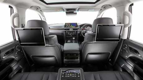 The luxurious eight-seat Lexus LX570.
