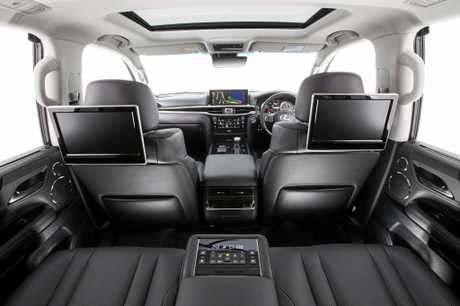 The luxurious eight-seat Lexus LX570.