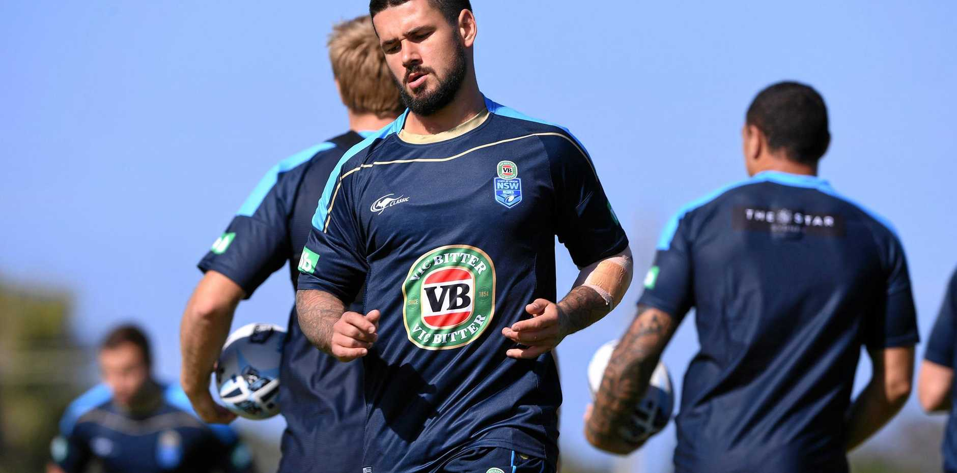 Nathan Peats during the New South Wales State of Origin team training session at Cudgen on Thursday.