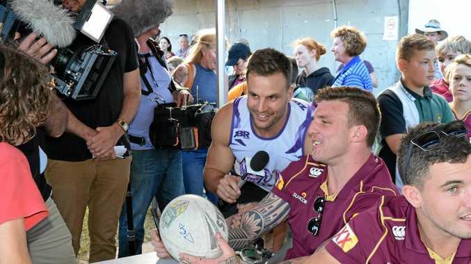 NRL Footy Show star Beau Ryan in Gladstone for their Fan Day last year.