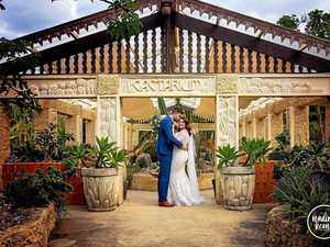 Intimate affair for newlyweds