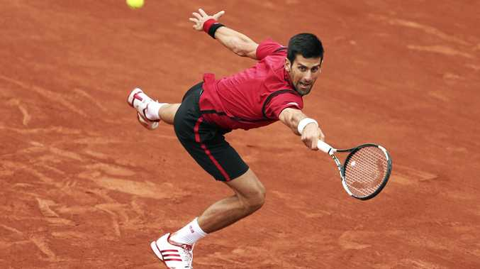 Novak Djokovic at the 2016 French Open.