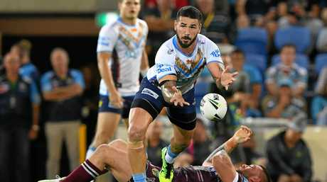 NSW hooker Nathan Peats in action for the Gold Coast Titans.