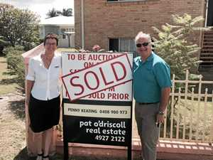 Pat O'Driscoll agents Penny Keating and Doug Webber sold 56 Agnes St, The Range at auction over the weekend.