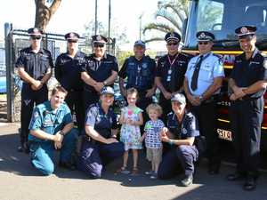 ROAD SAFETY: Bundaberg emergency services gathered to make a pledge for Fatality Free Friday.