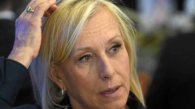 Martina Navratilova has taken aim at fellow former tennis great Margaret Court over gay marriage.