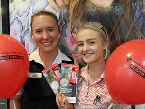 GIVE BLOOD: Excited about the open day at the Toowoomba Blood Donor Centre are nursing assistants Cassie Hounslow (left) and Sammie Dwyer.