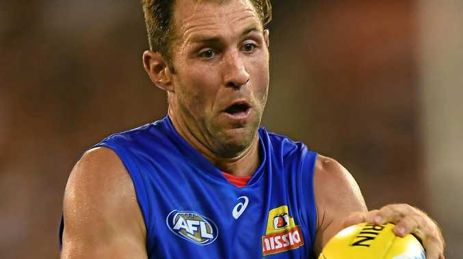 Travis Cloke of the Bulldogs.