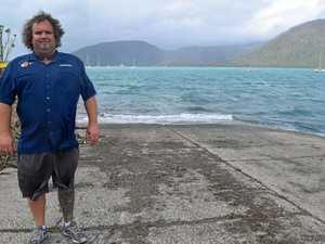 Whitsunday Fishing World manager Grant Spees called for patience on the Shute Harbour boat ramp earlier this month.
