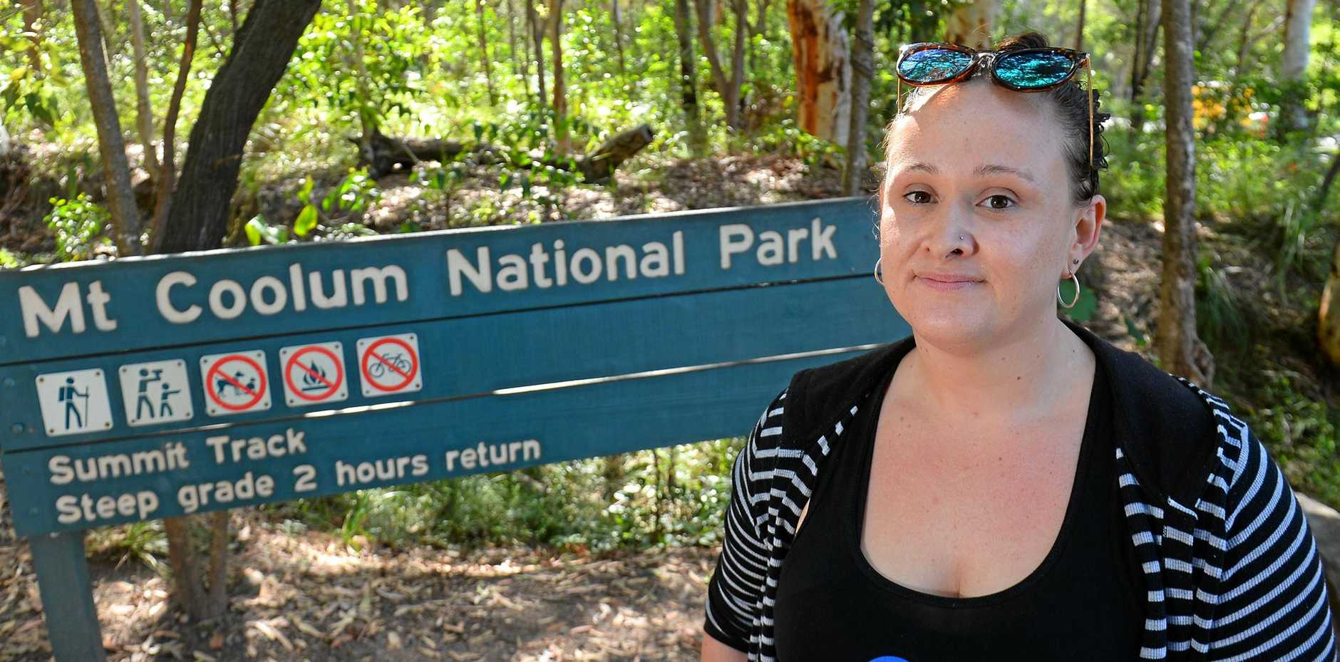 BODY SHAMERS: Kylie McGuigan is trying to find Tracey - a woman who was mercilessly mocked and photographed by two slim women as she tried to climb Mount Coolum for the first time on Wednesday.