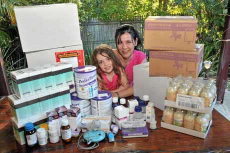 Huge volumes of drugs have always been needed to help Evie cope with her cystic fibrosis.