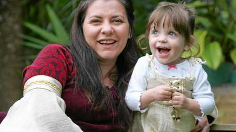 LITTLE CUTIE: Evie Marshall, aged two, with her mum Sonia.