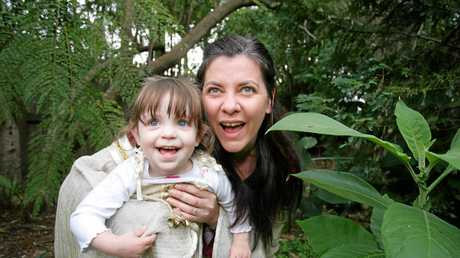 Evie and mum in 2007.