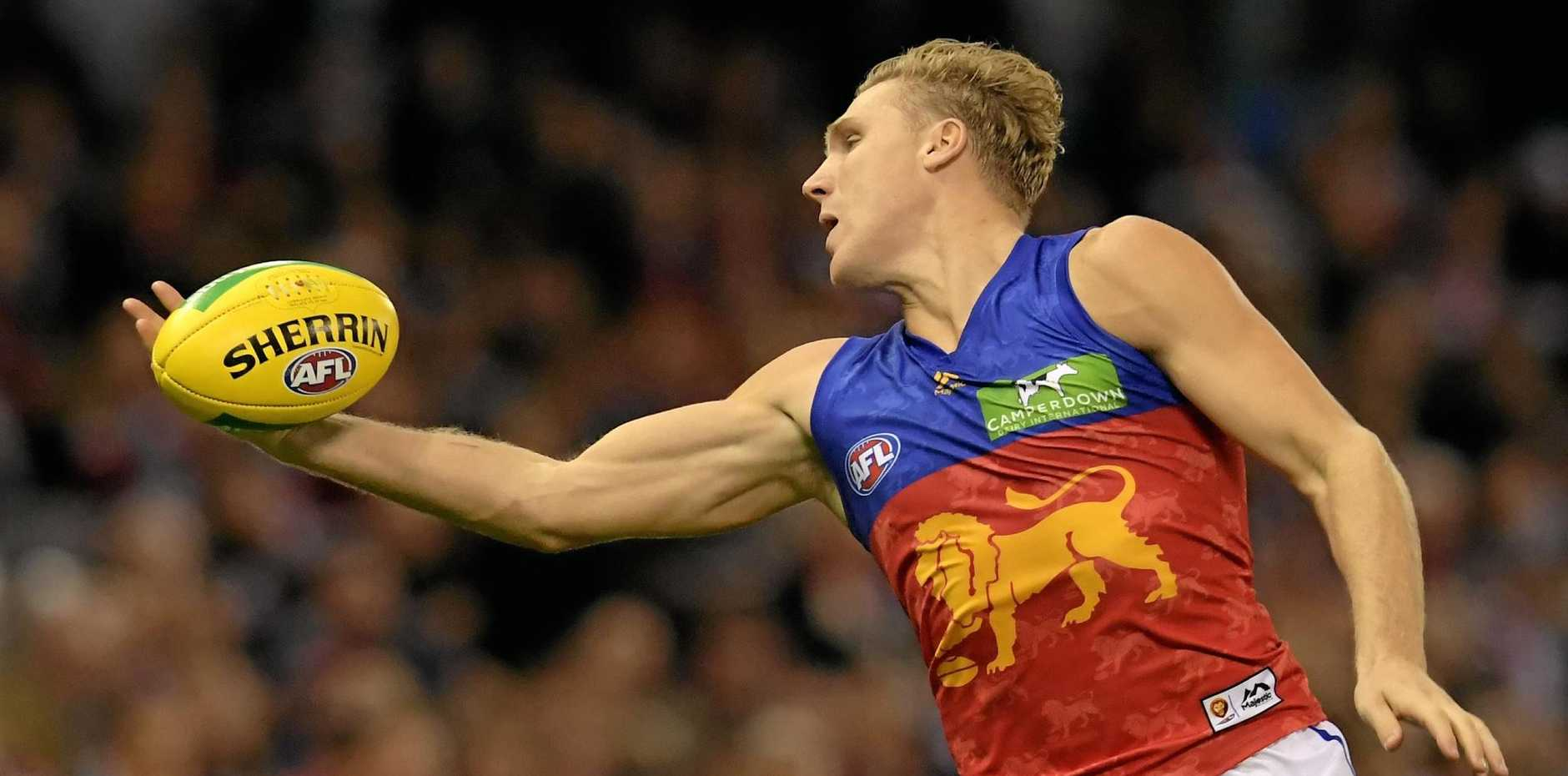PUNTED: Tom Bell has been dropped from the Lions side to play Collingwood.