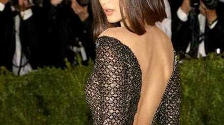 Bella Hadid arrives on the red carpet for the Metropolitan Museum of Art Costume Institute's benefit