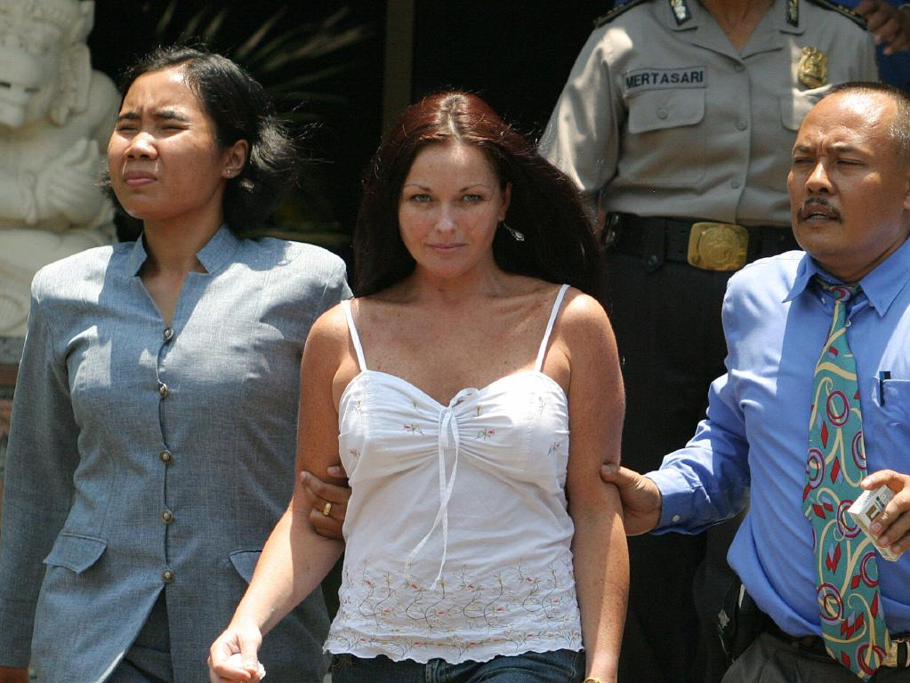 Flashback: Schapelle Corby at the time of her arrest.